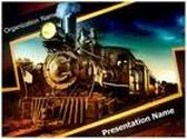 Steam Engine PowerPoint Template, TheTemplateWizard