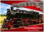 Steam Train PowerPoint Template, TheTemplateWizard