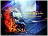 Street Violence PowerPoint Template, TheTemplateWizard