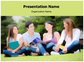 Students Free PowerPoint Template, TheTemplateWizard