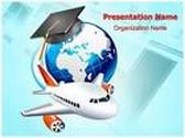 Study Abroad PowerPoint Template, TheTemplateWizard