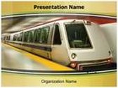 Subway Train PowerPoint Template, TheTemplateWizard