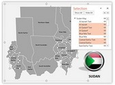Sudan PowerPoint Map, TheTemplateWizard
