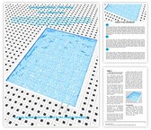 Swimming Pool Word Template, TheTemplateWizard