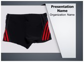 Swimming Trunks PowerPoint Template, TheTemplateWizard