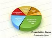 Tax Revenue Pie Chart PowerPoint Template, TheTemplateWizard