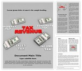 Tax Revenue Word Template, TheTemplateWizard