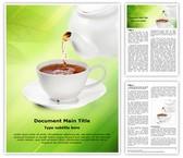 Tea Word Template, TheTemplateWizard