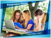 Technology And University PowerPoint Template background with 6 PPT slides