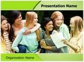 Teenage PowerPoint Template background with 6 PPT slides