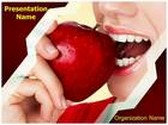 Teeth And Apple PowerPoint Template, TheTemplateWizard