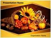 Thanksgiving Harvest PowerPoint Template, TheTemplateWizard