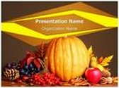 Thanksgiving PowerPoint Template background with 6 PPT slides