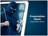 Thief Burglar Stealing PowerPoint Template, TheTemplateWizard