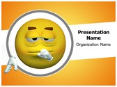 Thought Emoticon PowerPoint Template, TheTemplateWizard