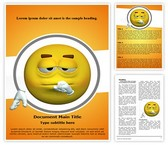 Thought Emoticon Word Template, TheTemplateWizard