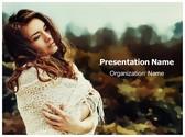Thoughtful Woman PowerPoint Template, TheTemplateWizard