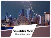Thunderstorm New York PowerPoint Template, TheTemplateWizard