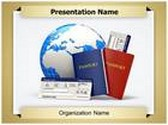 Tickets Passport PowerPoint Template, TheTemplateWizard