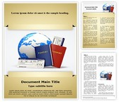 Tickets Passport Word Template, TheTemplateWizard