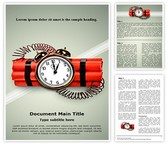 Time Bomb Word Template, TheTemplateWizard