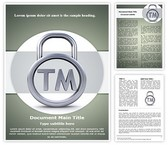 Trademark Word Template, TheTemplateWizard