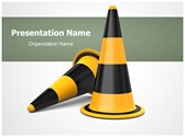 Traffic Cones Free PowerPoint Template, TheTemplateWizard