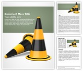 Traffic Cones Free Word Template, TheTemplateWizard