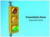 Traffic Light Animated PowerPoint Template, TheTemplateWizard