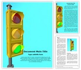 Traffic Light Word Template, TheTemplateWizard