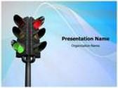 Traffic Signal PowerPoint Template, TheTemplateWizard
