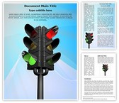 Traffic Signal Word Template, TheTemplateWizard