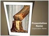 Tree Cutting Deforestation PowerPoint Template, TheTemplateWizard