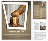 Tree Cutting Deforestation Word Template, TheTemplateWizard