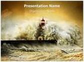 Tsunami PowerPoint Template, TheTemplateWizard