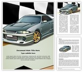Turbo Sports Car Word Template, TheTemplateWizard