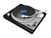 Turntable Vinyl Animated Clipart, TheTemplateWizard