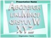 Typography PowerPoint Template background with 6 PPT slides