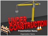 Under Construction Site Animated PowerPoint Template, TheTemplateWizard