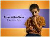 Underage Drinking Boy PowerPoint Template, TheTemplateWizard