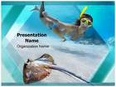 Underwater Diving PowerPoint Template, TheTemplateWizard