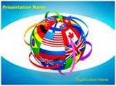 United Nations World Flags PowerPoint Template, TheTemplateWizard