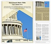 Us Capitol Building Word Template, TheTemplateWizard