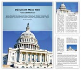 Us Capitol Word Template, TheTemplateWizard