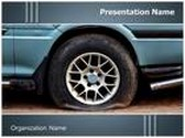 Vehicle Tire Puncture PowerPoint Template, TheTemplateWizard