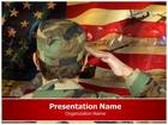 Veteran Soldier Salutes PowerPoint Template, TheTemplateWizard