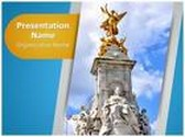 Victoria Monument PowerPoint Template, TheTemplateWizard