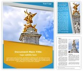 Victoria Monument Word Template, TheTemplateWizard