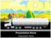 Village Agriculture Farm Tanker PowerPoint Template, TheTemplateWizard