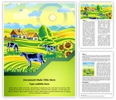 Village Agriculture Farm Word Template, TheTemplateWizard